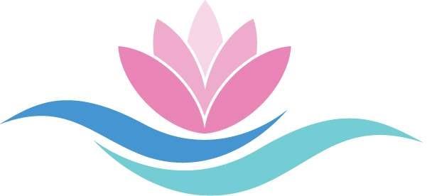 Логотип курорта Хевиз - розовая кувшинка