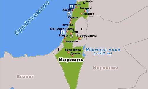Israel_map ИЗРАИЛЬ ИЗРАИЛЬ Israel map
